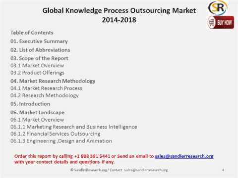 Global Knowledge Process Outsourcing (KPO) Market to Grow at a CAGR of 23.12 percent by 2018