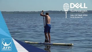 Stefan Kozlov and Taylor Fritz compete in a paddle board race and (narrowly) manage to avoid falling in the chilly water in Newport. Video courtesy: Dell Technologies Hall of Fame OpenSubscribe to our YouTube Channel: http://bit.ly/2dj6EhWVisit the official site of men's professional tennis: http://www.atpworldtour.com/FOLLOW THE ATP WORLD TOURWatch live and on demand: http://www.tennistv.com/Check live scores: http://www.atpworldtour.com/en/scoresView the latest rankings: http://www.atpworldtour.com/en/rankingsMeet the players: http://www.atpworldtour.com/en/playersFollow the tournaments: http://www.atpworldtour.com/en/tourna...Catch up on tennis news: http://www.atpworldtour.com/en/newsJOIN THE CONVERSATION!Download MyATP: http://www.myatp.com/Like us on Facebook: https://www.facebook.com/ATPWorldTour/Follow us on Twitter: https://twitter.com/ATPWorldTourFollow us on Instagram: https://www.instagram.com/atpworldtour/Follow us on Google+: https://plus.google.com/+ATPWorldTour