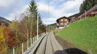 Klosters Dorf Switzerland  city photo : Im Zug der Rhätischen Bahn (RhB): Saas-Klosters Dorf [CH]