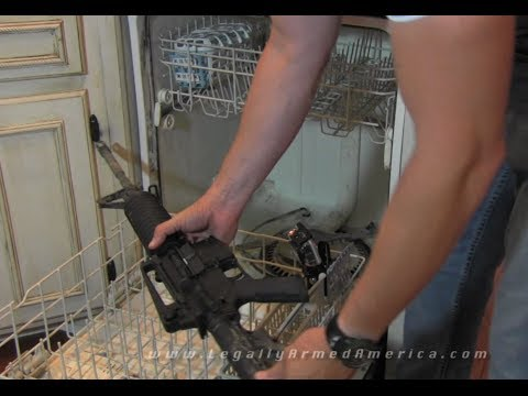 """Gun Bullies"": Can an AR-15 be washed in the dishwasher?"