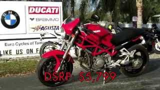 6. Pre-Owned 2008 Ducati Monster S2R 1000 Red Walkaround at Euro Cycles of Tampa Bay