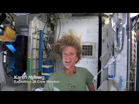 Wash - NASA astronaut Karen Nyberg shows how she washes her long hair in space while living in weightlessness on the International Space Station. Hint: No rinse sha...