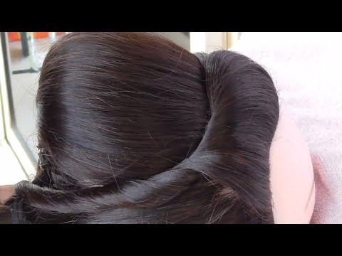 Beautiful Side Puff With Back Puff Hairstyle Wedding Hairstyle