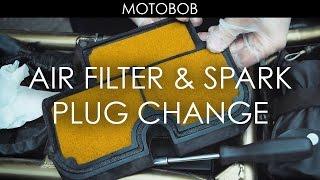 5. How To Change Motorcycle Air Filter & Spark Plugs (Kawasaki ER-6n)