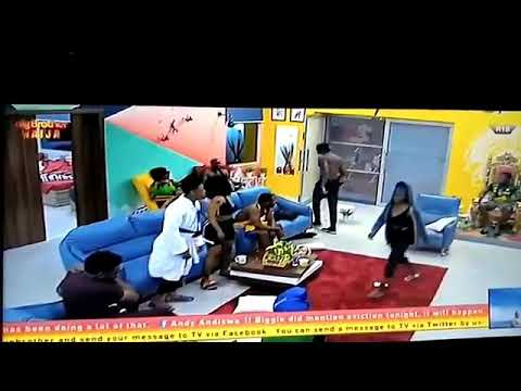 Mercy and Tacha fight in the Big brother house