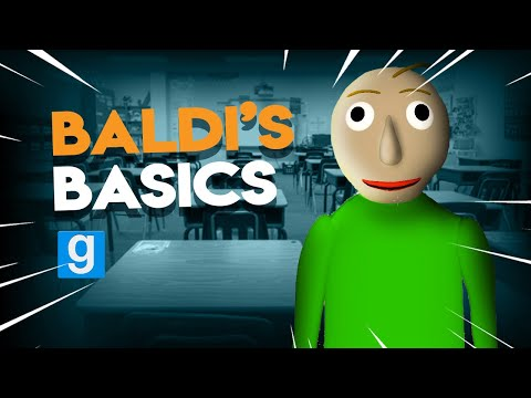 Playing BALDI'S BASICS in GMOD | Gmod Official Baldi Map (видео)