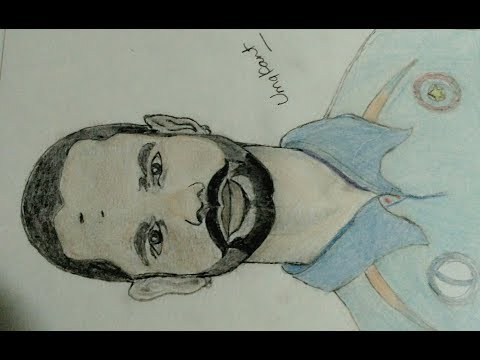 Shikhar Dhawan Drawing By Pencil