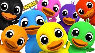 Video Learn Colors With Ducks | Learning colors song for Kids by Farmees MP3, 3GP, MP4, WEBM, AVI, FLV September 2018