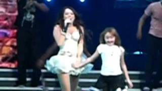 Hoedown Throwdown- Miley Cyrus & Noah Cyrus - Dec. 2. 2009. American Airlines Arena.