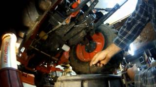 6. How to change the hydraulic fluid,differential fluid,filters on your Kubota 2920 tractor Part2