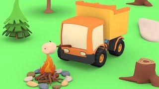 Video Tiny Trucks - The Forest Camping - Kids Animation with Street Vehicles Bulldozer, Excavator,Crane MP3, 3GP, MP4, WEBM, AVI, FLV Mei 2019