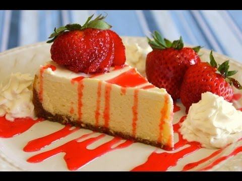 How to Make Easy Homemade New York Style Cheesecake - No Fuss Recipe - Ingredients in description