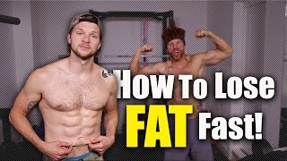 How To Lose Fat FAST!TDEE Calculator - https://tdeecalculator.net/What's up team we are back and we're talking fat burning, and doing it fast. As we say in the video this is by no means the best and most optimal way to burn fat and keep it off long term, you all know that. But what we are not going to pretend is that there arn't certain times in life where we even ourselves need it gone quickly for a shoot or trip and we don't really have the time for the long game. So during the video we cover some of the ways we find it easier to get that fat off a little faster. If you have any questions throw them below and we will get back to you.DON'T FORGET TO LIKE, COMMENT & SUBSCRIBE- http://bit.ly/YTLeanMachinesConnect with us and ASK us some Questions: *INSTAGRAM: http://bit.ly/IGLeanMachines*FACEBOOK: http://bit.ly/FBLeanMachines*TWITTER: http://bit.ly/TwitterLeanMachies*SNAPCHAT: @theleanmachines*BLOG/WEBSITE: www.theleanmachines.comAssault bike - http://bit.ly/2o3SCbXI receive a percentage of the revenue from purchases made through links in this post with an asterisk next to them.* Check out our Protein Food Shop hampers here - http://www.proteinfoodshop.com/the-lean-machines* Awesome supplements - https://awesomesupplements.co.uk/?ref=lmLearn more with our BOOK http://www.amazon.co.uk/dp/1472236262/Please only attempt exercises from this video if you are fit to do so, if unsure please consult your health care professional first!