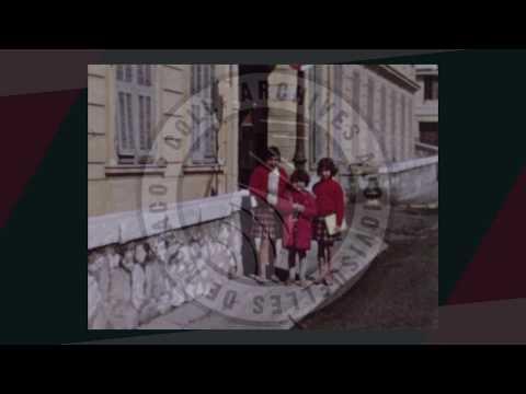 """Instantané """"Monaco en films"""" : Rentrée des classes 1960 à Monaco"""