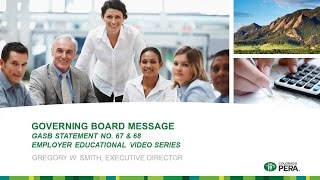 GASB 68: Governing Board Message