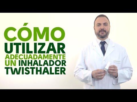 Cómo utilizar correctamente un inhalador Twisthaler