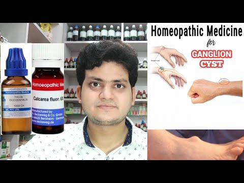 Ganglion cyst ! Homeopathic medicine for Ganglion ? Explain !