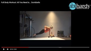 Full Body Workout - All you need is... Dumbbells