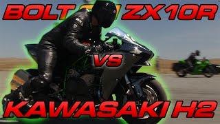 6. Kawasaki H2 vs Bolt on ZX10R - TOP SPEED