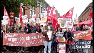 Download Video Socialist Party on the anti-Tory Party Demo in Manchester MP3 3GP MP4
