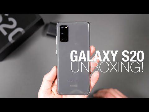 Samsung GALAXY S20 Unboxing and Tour!