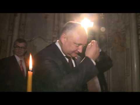 Глава государства провел встречу с Блаженнейшим Феофилом, Патриархом Святого града Иерусалима и всея Палестины
