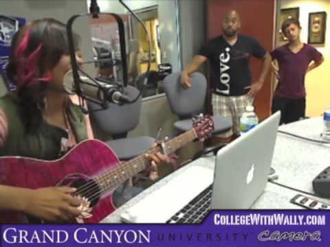 Jamie Grace, tobyMac and Gabe Real on the Grand Canyon University Web Cam