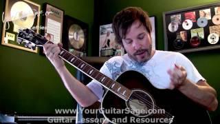 Left Hand Muting 1&2 - Lefty Beginner Acoustic Guitar Lesson
