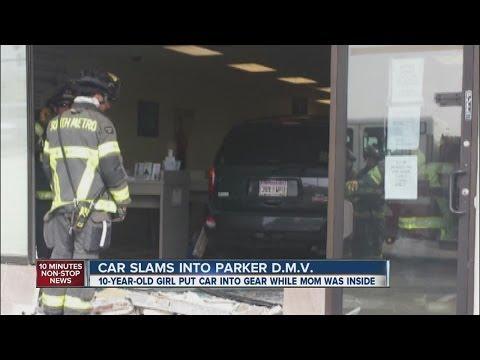 10-year-old cited for careless driving after rolling SUV into DMV office
