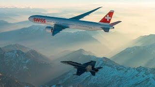 On Januar 29 - 2016, the first Boeing 777-300ER of SWISS was indentified, welcomed and escorted to Zurich Airport by two ...