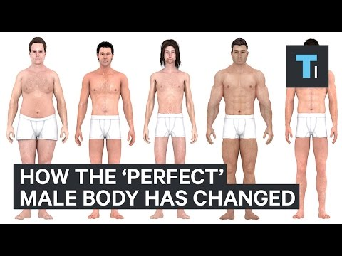 How the perfect body for men has changed over the last 150 years