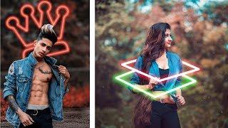 Picsart Neon Background Effect | Picsart editing tutorial | Picsart best editing