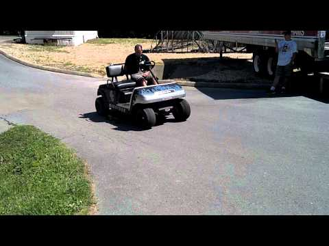 V8 Golf Cart Burnout