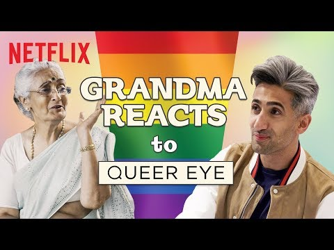 Indian Grandma reacts to Queer Eye | Netflix