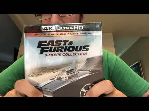 Fast & Furious 8-Movie Collection 4K Ultra HD Blu-Ray Unboxing