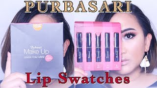 PURBASARI LIPSTICK COLOR MATTE  Lip Swatches (Nomer 91 - 95)Hi semua, kali ini aku bikin lip swatch untuk 5 warna terbaru dari PURBASARI Lipstick Color Matte. Hope you like the video :)PLEASE HELP ME GROW MY CHANNEL! :)—— THUMBS UP AND SUBSCRIBE —— ———————————————————————————————————I N S T A G R A M —&-- T W I T T E R :http://www.instagram.com/sorayahylmihttp://www.twitter.com/sorayahylmiB E A U T Y   B L O G :http://www.ayabeautytips.blogspot.com--------------------------------------------------------------------------------------Video taken with :— CANON 7DEdited with :— iMovie