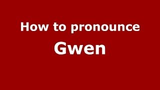Audio and video pronunciation of Gwen brought to you by Pronounce Names (http://www.PronounceNames.com), a website dedicated to helping people pronounce name...