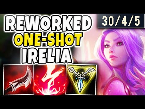 THIS REWORKED IRELIA ONE-SHOT BUILD IS ABSOLUTELY INSANE! THEY JUST DISAPPEAR!! - League Of Legends