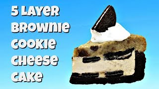 The Veganized 5 Layer Brownie Cookie Cheesecake!! by Gretchen's Bakery