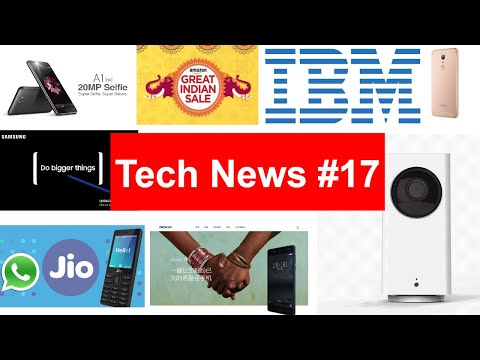 Tech News #17 Whatsapp on JioPhone, OnePlus 5 New Issue, Note 8 leak, Coolpad Note 5 Lite C