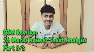 IPCC ITSM Revision | Answer Sheet (76 Marks) Analysis | Part 3/3