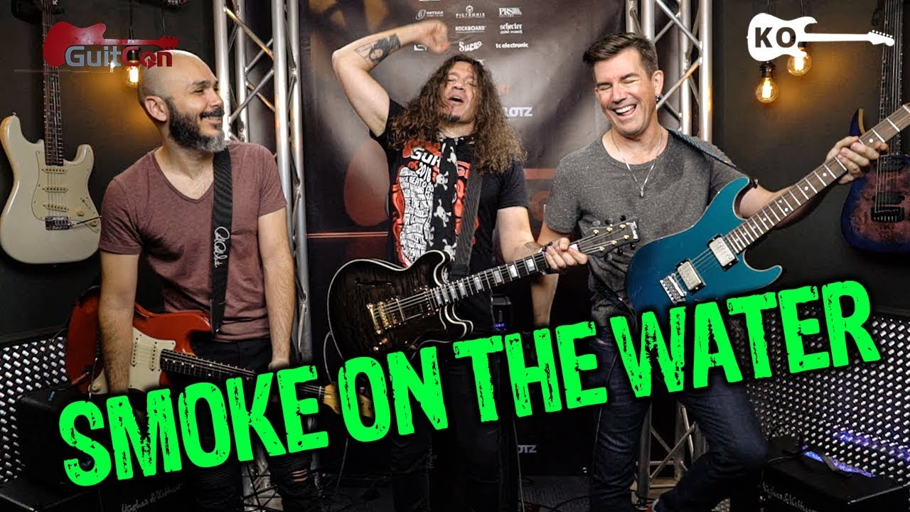 Deep Purple – Smoke on the Water – Electric Guitar Cover by Kfir Ochaion ft. Phil X & Pete Thorn