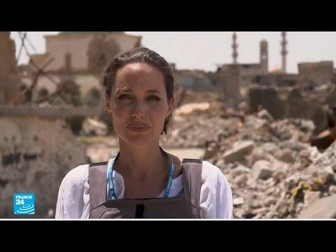 العرب اليوم - شاهد:أنجلينا جولي تتفقد مخيمات اللاجئين السوريين في الموصل وكردستان العراق