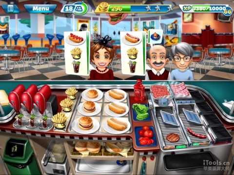 【Cooking Fever】Fast Food Court Level 40 (3 Stars)
