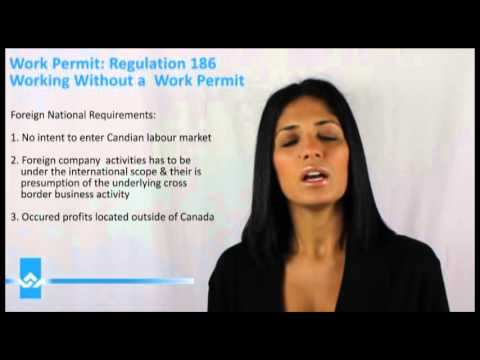 Work Permit Regulation 186 Working Without a Work Permit Video