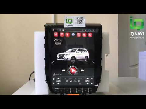 """Обзор магнитолы на стиле ТЕСЛА сверху Андроиде IQ NAVI T54-2921TS Toyota LC200 (2015+) 02,1"""" TESLA STYLE"""
