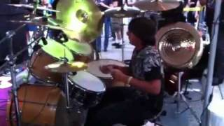 Run to the hills and Flight of Icarus Preformed at Nicko McBrains Restaurant Rock N Roll RibsWith Nicko McBrain Looking on!!!Yeah see!!!