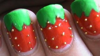 Glossy & Matt Strawberry Nail Art Designs Easy Youtube Do It Yourself Nails Step By Step Nails Art