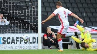 Action from the pre-season friendly between MK Dons and Brentford at Stadium MK on Tuesday 25th July 2017. Goals - Ryan ...