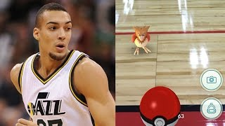 Rudy Gobert Plays Pokémon Go During Summer League Game by Obsev Sports